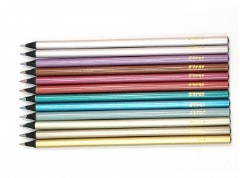 F-CP45-12_Black Wood Metallic Colored Pencil