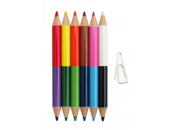 F-CP52-12_Half Size Double-ended Colored Pencil