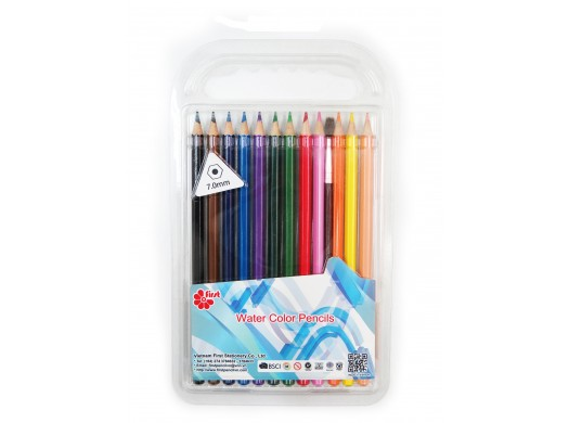 F-CP47-12_Watercolor Pencils Set With Brush